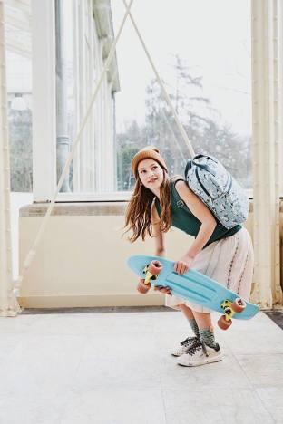 dziewczyny deskorolka plecaki